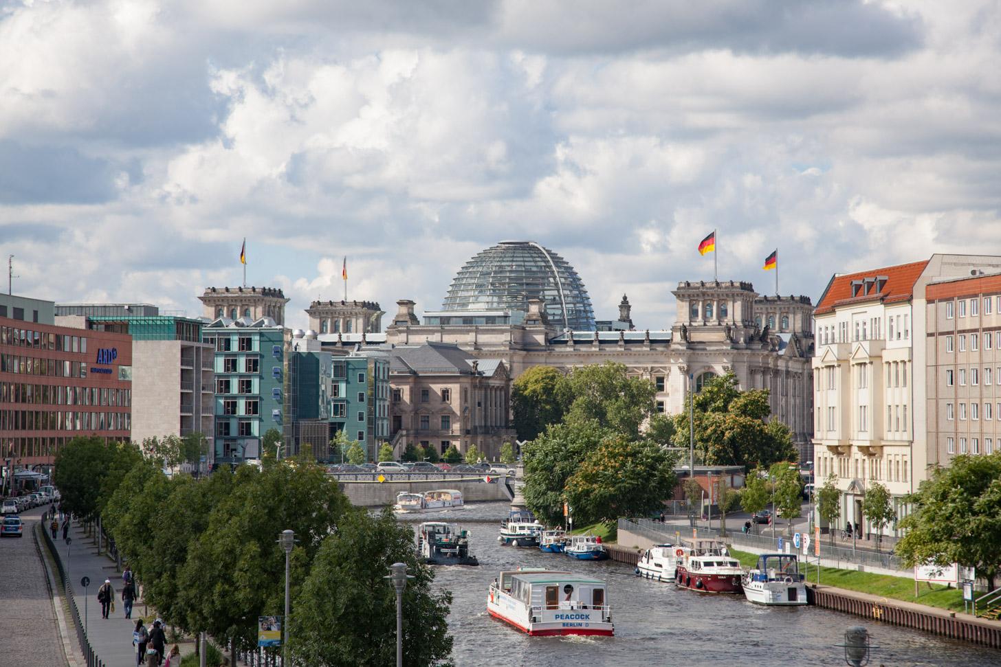 Mix van bouwstijlen in Berlijn