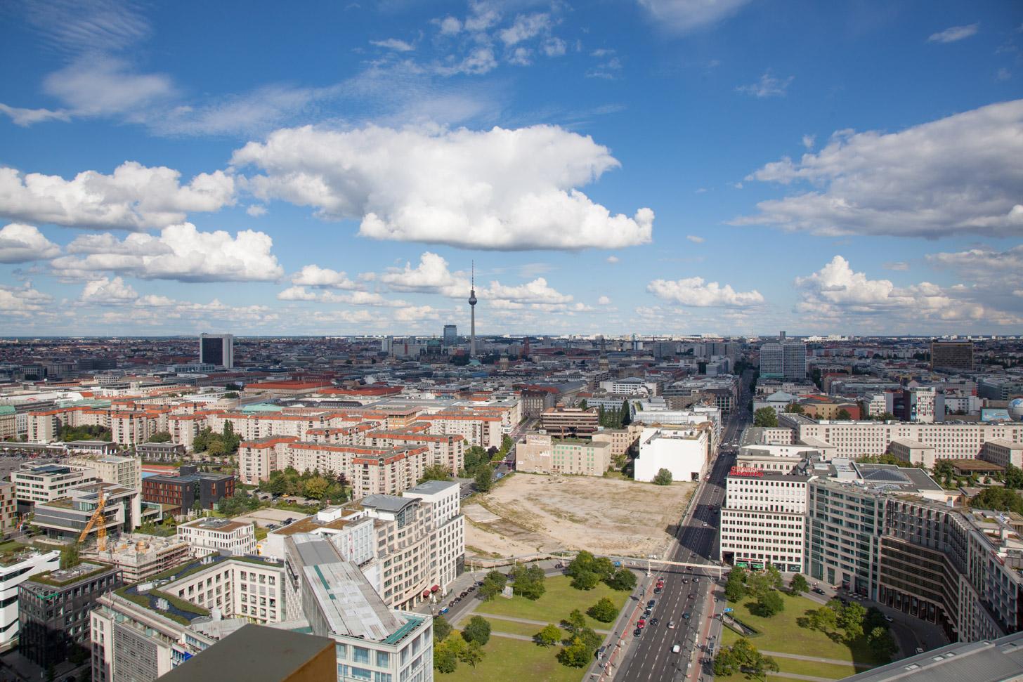 Uitzicht vanaf het Panoramapunkt Potsdamer Platz
