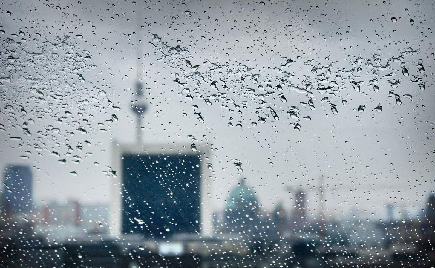 Een regenachtige dag in Berlijn.