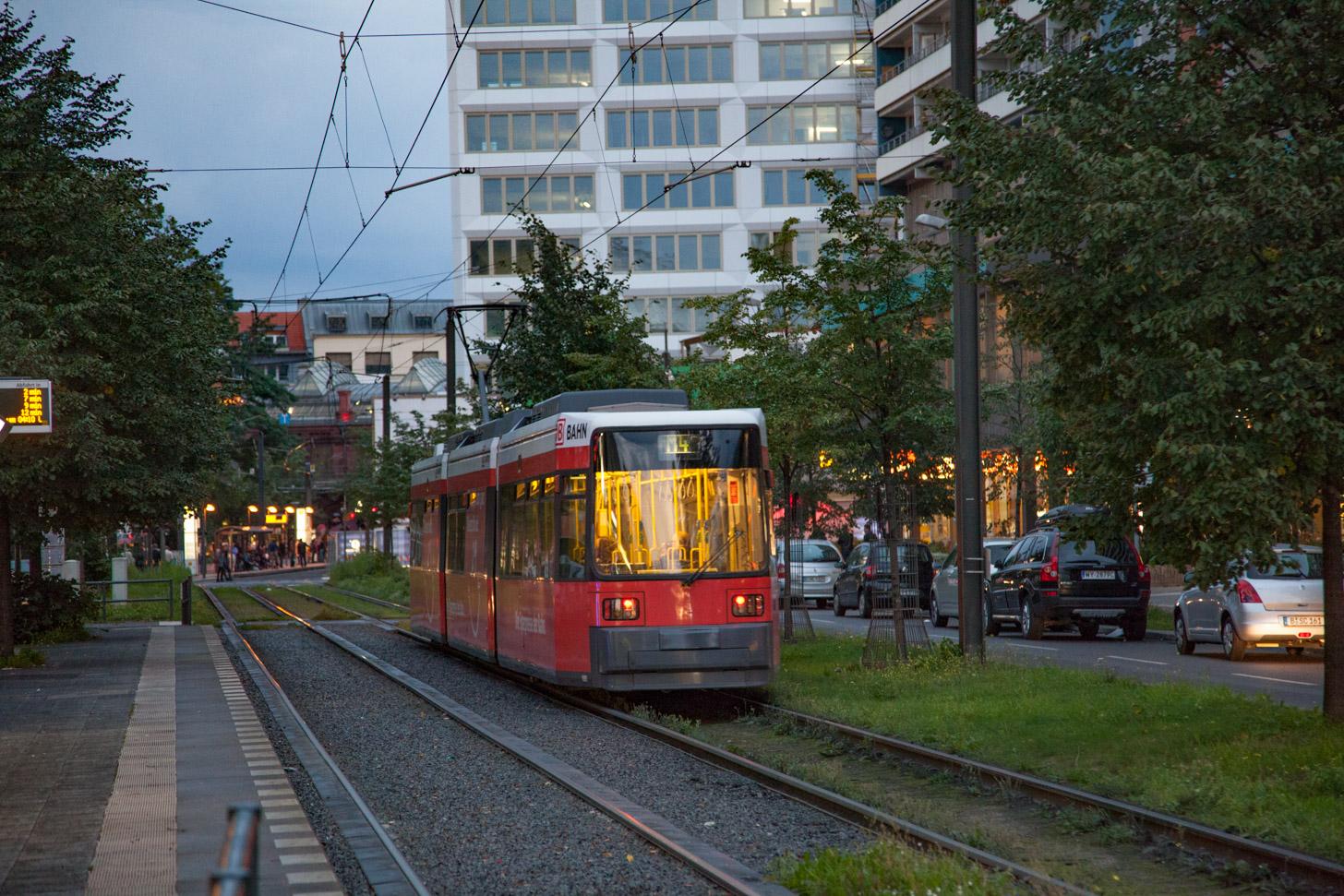 De tram in Berlijn